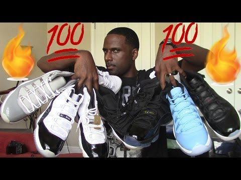 ALL AIR JORDAN 11 COLORS 2006 - 2016 SNEAKER COLLECTION. 11 PAIRS TOTAL. WHICH 1'S DO YOU HAVE?
