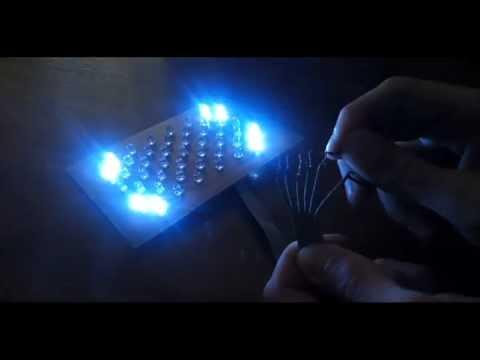 DIY LED lamp testing (music lamp)
