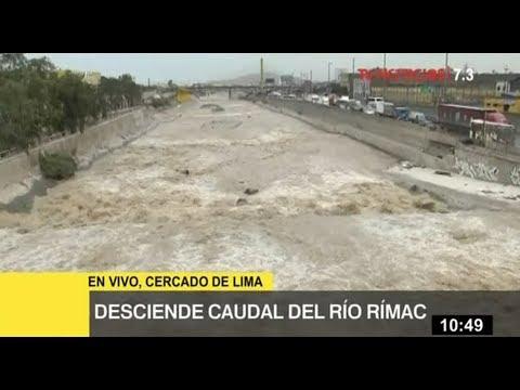 Río Rímac: Senamhi informa disminución del caudal a 58 metros cúbicos por segundo