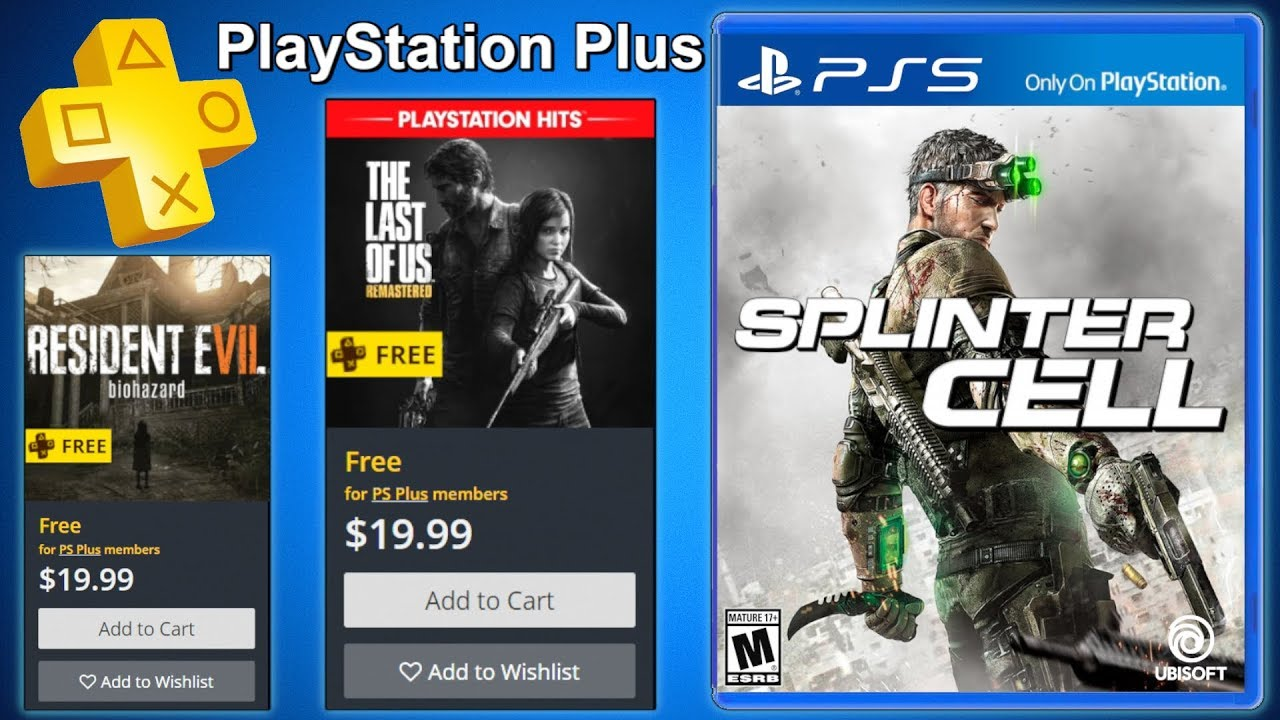 PS5 Games & Price - NEW Splinter Cell - PS PLUS October ...