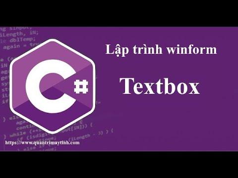 Lập trình C# winform - Textbox