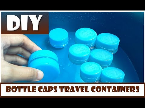 DIY Bottle Caps Hack - Travel Containers