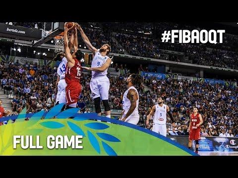 Italy v Mexico - Full Game - 2016 FIBA Olympic Qualifying Tournament - Italy