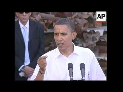 Democratic Presidential Candidate Barack Obama Says Jerusalem Should Be The Capital Of Israel, But T