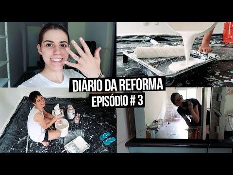 Diário da Reforma #3 - A PAREDE DE CIMENTO QUEIMADO DEU ERRADO | Mi Alves