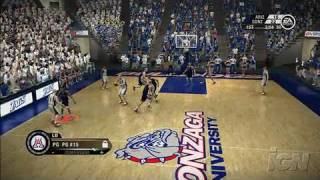 NCAA March Madness 07 Xbox 360 Gameplay - West Coast Battle