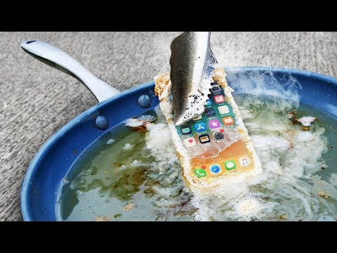 What Happens When You Deep Fat Fry iPhone 8?!