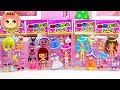 Mini mini dressing sticker ❤️Let's change clothes of 5 girls♪ Kids Anime Toy ASOBOOM!