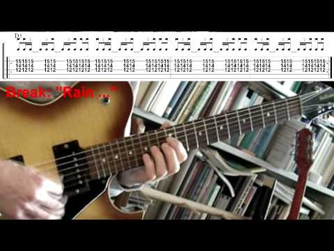 Rain - The Cult (Guitar lesson with tab)
