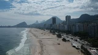 Leme and Arpoardor beach in Rio de Janeiro Brazil - drone view