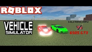 650s GT3 vs Huracan - Roblox Vehicle Simulator