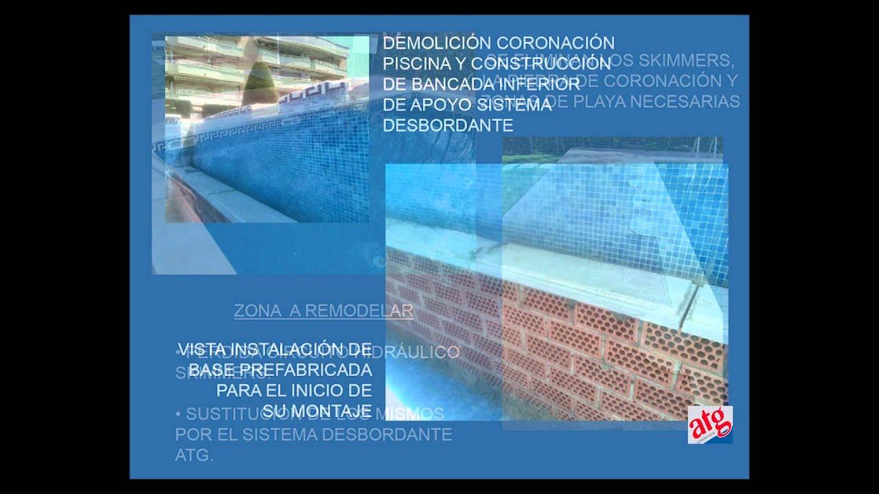 Sistema para piscinas desbordantes atg castellano youtube for Sistema ultravioleta para piscinas