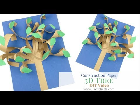 3d Paper Tree Construction Paper Crafts For Kids Youtube