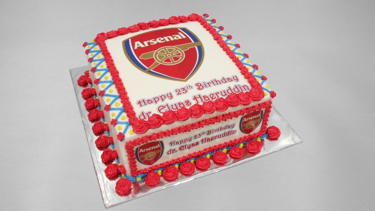 Arsenal Birthday Cake Edible