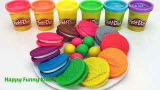Learn Colors Play Doh Biscuit Popsicle Ice Cream Disney Toy Story Elmo Molds Surprise Toys TMNT Eggs