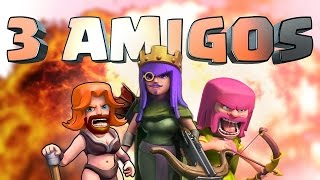 Clash Of Clans - 3 AMIGOS!! (All Girl Team)