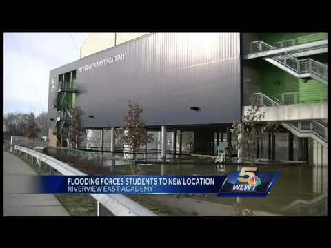 Students at Riverview East Academy displaced due to high water