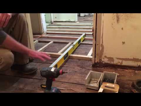 Diy How To Level A Uneven Wavy Or Sloping Wood Floor You