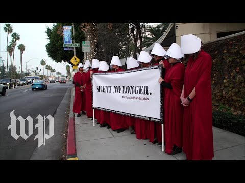 'Hollywood Handmaids' Protest Outside Golden Globes