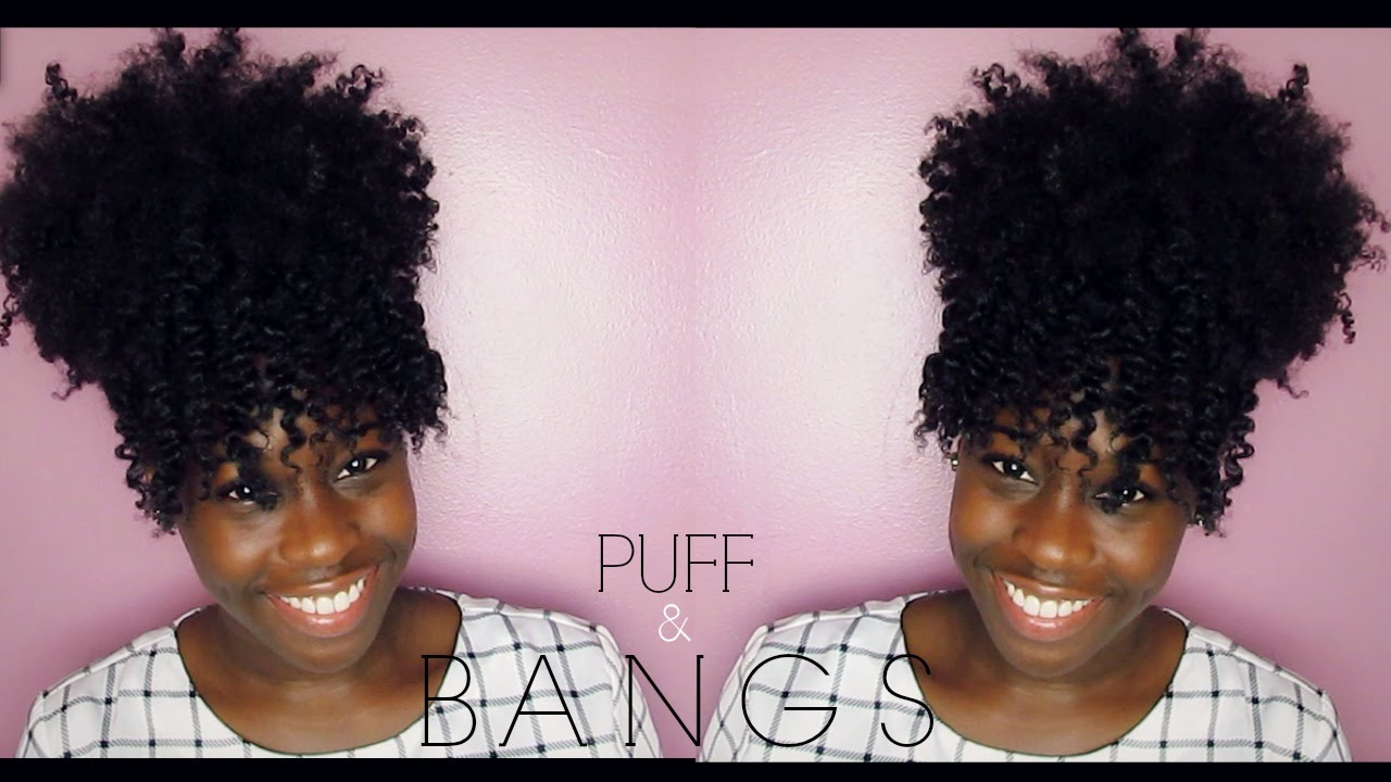 natural hair | puff & bangs