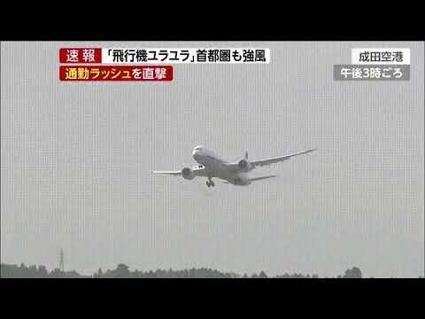 All Nippon Airways Dreamliner in Japan, possibly during Typhoon Cimaron