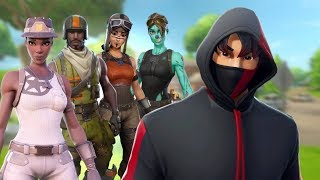 I try to join the most EXCLUSIVE clan of fortnite using the IKONIK skin