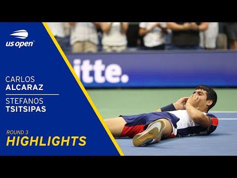 Carlos Alcaraz vs Stefanos Tsitsipas Highlights | 2021 US Open Round 3