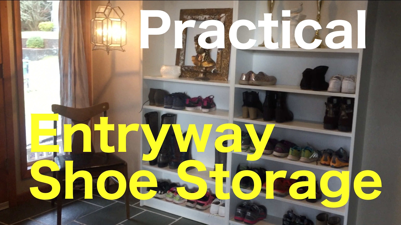 Darlene S Practical Ideas Shoe Storage Shelf In A Family Entryway Organize The Easy Way