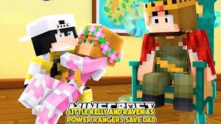 LITTLE KELLY AND RAVEN AS POWER RANGERS SAVE DAD |Raven and Little Kellys Adventures|Custom Roleplay