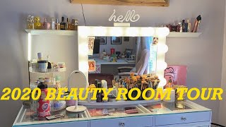 My 2020 Beauty Room Tour! *and office and closet lol*
