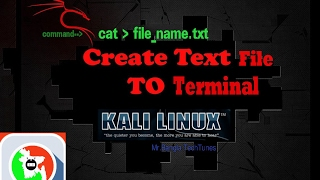 Creating a txt file using terminal Kali Linux