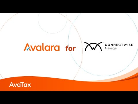ConnectWise PSA Sales Tax Automation - Avalara