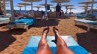 Египет 2021 Пляж отеля Novotel Beach 5 Новотел Бич 5 Шарм Эль Шейх 2021 Наама Бей 2021