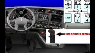 Переключение 13 и 18 ступенчатой коробки передач на грузовике!