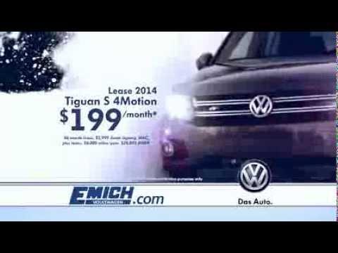 Emich VW 2014 Tiguan S 4Motion Lease Special l Denver, Colorado