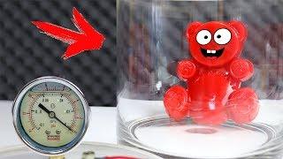 Experiment - Lucky Bär im Vakuum