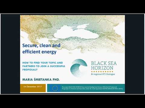 12th BSH Webinar - Secure, clean and efficient energy - New WP in H2020 (11 Dec 2017)