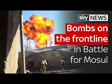 Bombs on the frontline in the Battle for Mosul