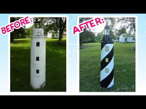 Awesome Lawn Lighthouse Makeover!