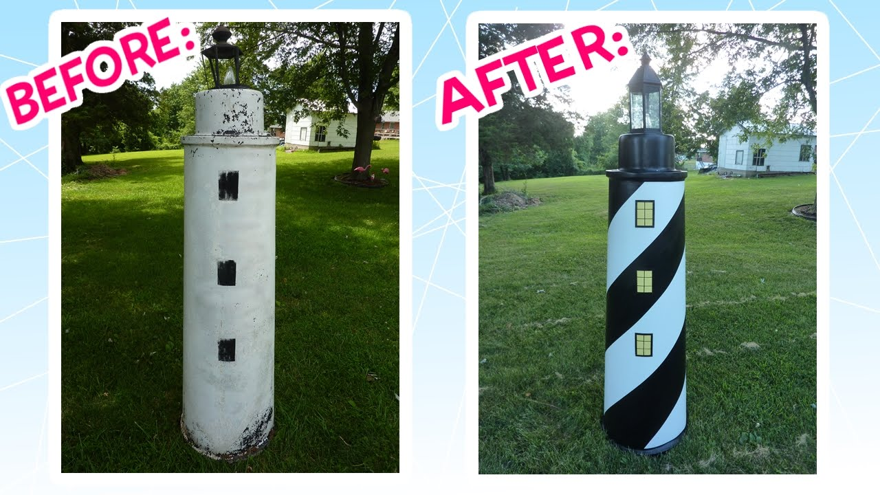 Awesome Lawn Lighthouse Makeover! - YouTube