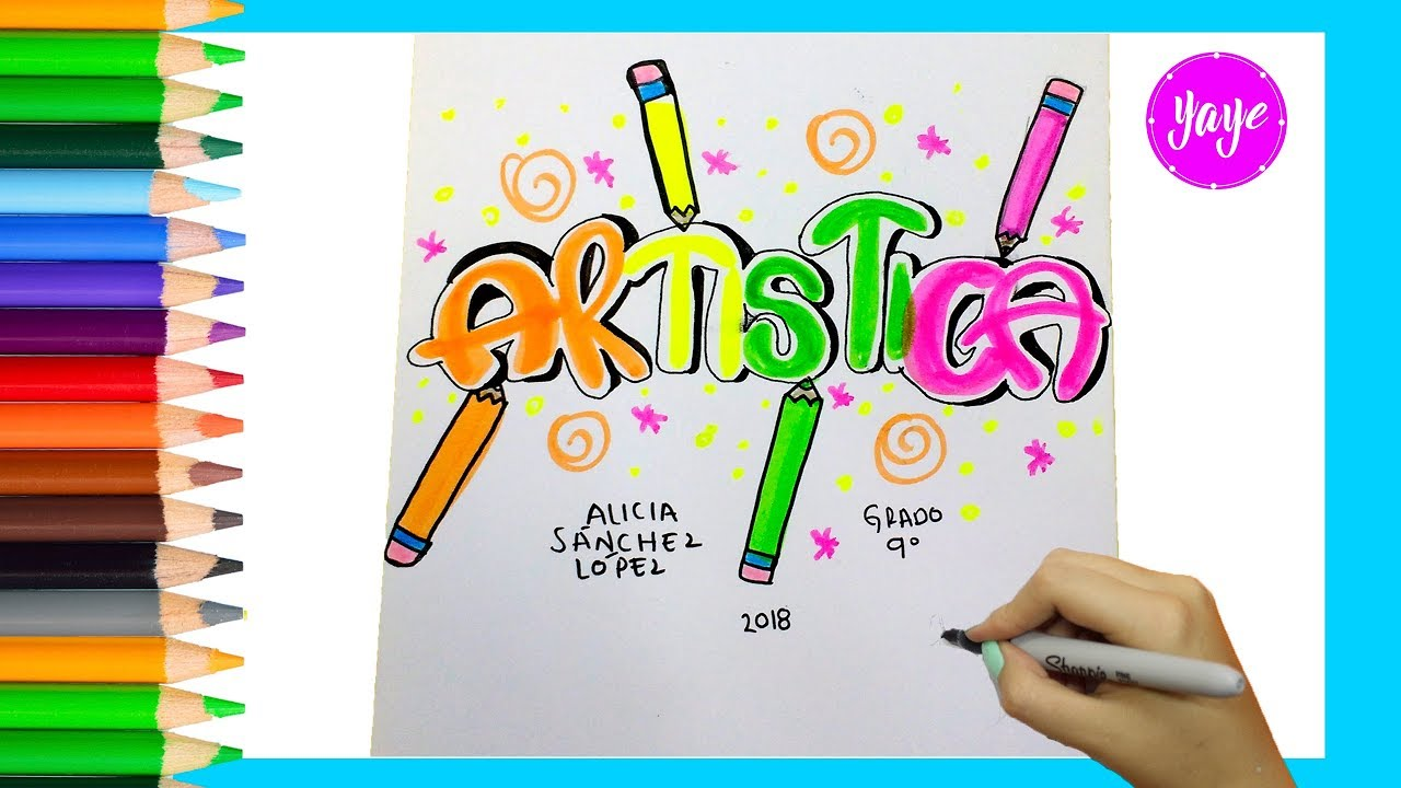 Dibujos Para Portadas De Cuaderno: IDEAS PARA MARCAR TUS CUADERNOS-Cómo Marcar Cuaderno De