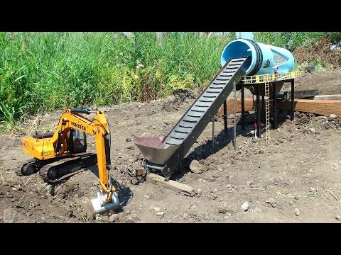 RC ADVENTURES - GOLD Mine Trommel & 4200XL Excavator, Radio Controlled