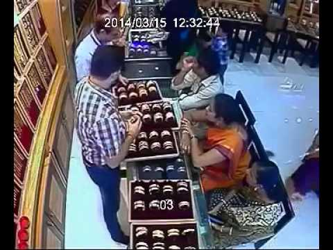 Jewellery Shop Theft Cctv Footage Clip