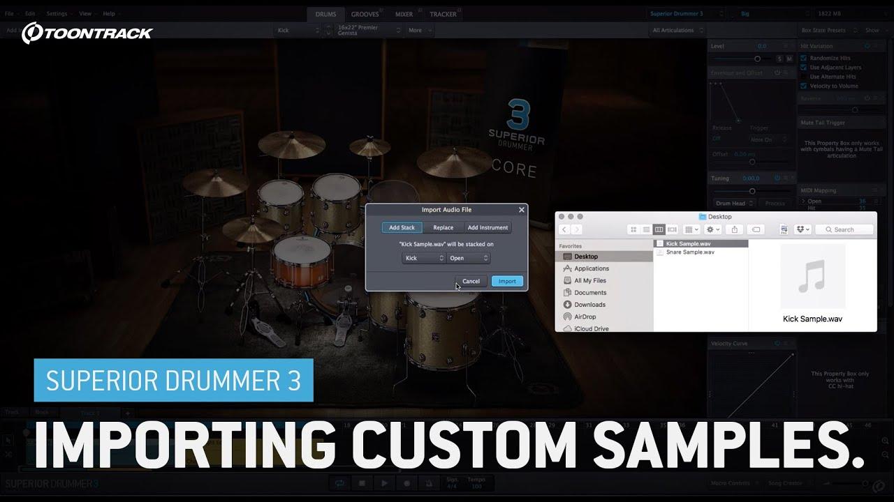 Superior Drummer 3: Importing custom samples (video 5/5)