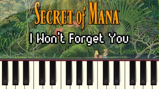 I Won't Forget You - Secret of Mana [Synthesia]