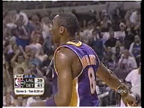 Kobe Bryant - Game 4 of the 2004 NBA Finals (Shot by Shot, 8-25) - YouTube