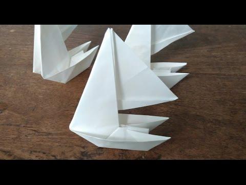 How to make an origami Paper sailboat  (Maarten Van Gelder)