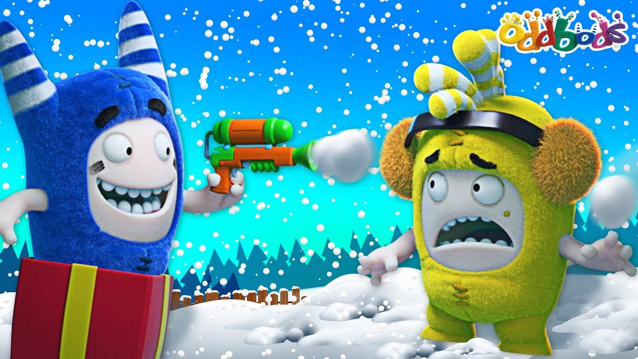 Oddbods | Snow Fight | CHRISTMAS Cartoons For Kids