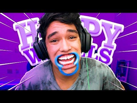 TENTE NÃO RIR COM ESSE VÍDEO DE HAPPY WHEELS !!