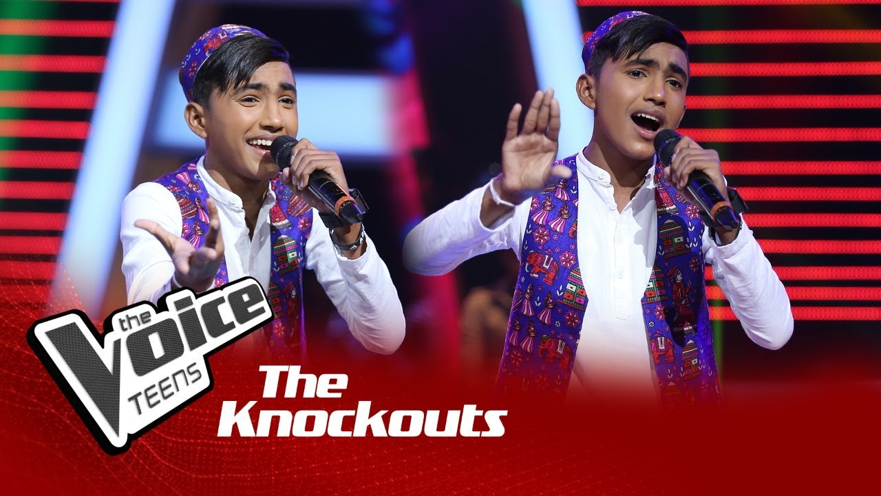 Dinidhu Lakshan | Aye Meri Zohra Jabeen | Knockouts | The Voice Teens Sri Lanka